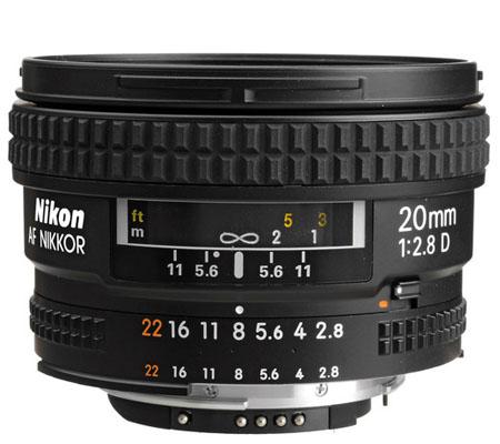Nikon AF 20mm f/2.8D.