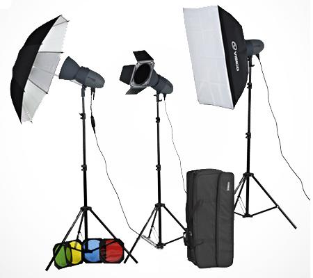 Visico VC-600HH 220V Unique Studio Lighting Kit