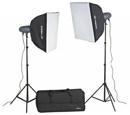 Visico VL-300HH 220V Studio Lighting Softbox Kit
