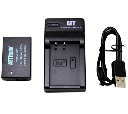 ATTitude Canon LP-E17 Battery + Charger