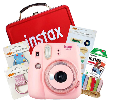 Fujifilm Instax Mini 9 Craft Kit Clear Pink