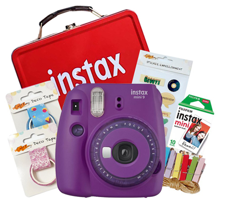 Fujifilm Instax Mini 9 Craft Kit Clear Purple