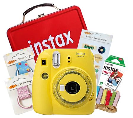 Fujifilm Instax Mini 9 Craft Kit Clear Yellow