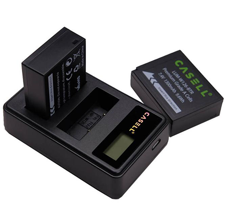 Casell Battery NP-W126 + Dual Charger for Fujifilm Kamera Mirrorless