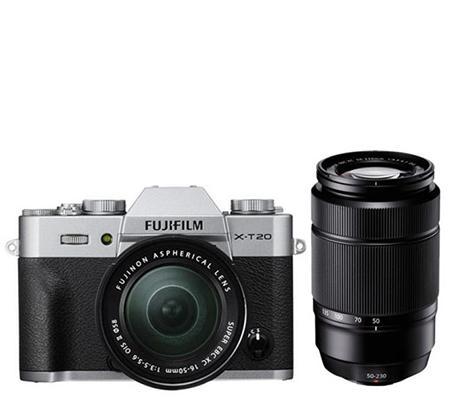 Fujifilm XT20 kit Silver XC16-50mm f/3.5-5.6 OIS II + XC50-230mm f/4.5-6.7 OIS Black