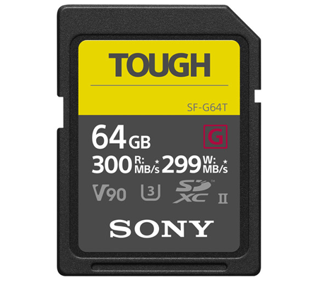 Sony SDXC 64GB SF-G Tough Series UHS-II