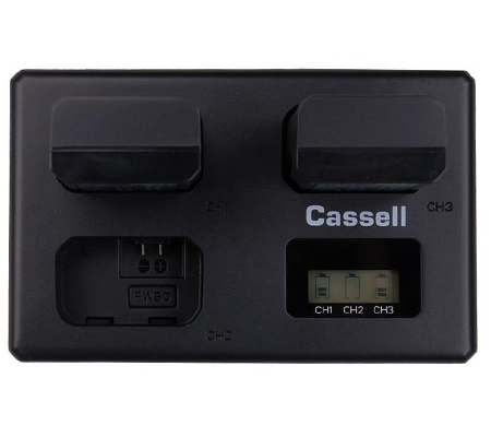 Casell Battery NP-FW50 + Triple Charger for Sony