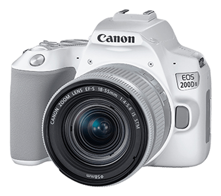 Canon EOS 200D Mark II with lens 18-55mm White