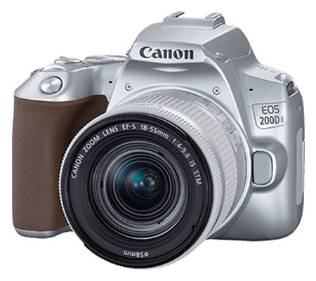 Canon EOS 200D Mark II with lens 18-55mm Silver