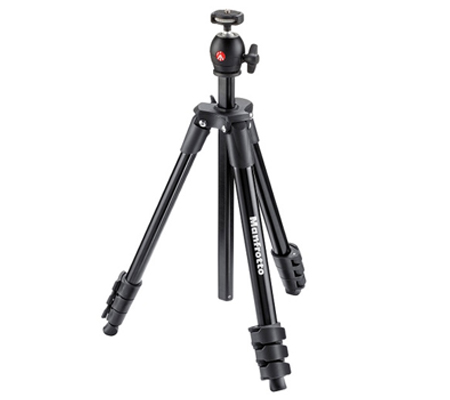 Manfrotto Tripod Compact Light MKCOMPACTLT Black