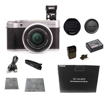::: USED:::Fujifilm X-A20 kit XC 15-45mm f/3.5-5.6 OIS PZ Silver (Excellent-507/384)