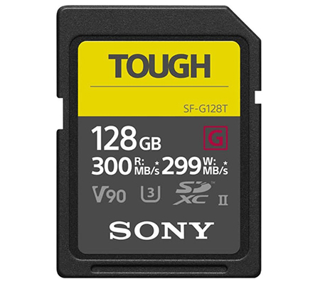 Sony SF-G Tough Series SDXC 128GB Read 300MB/s Write 299MB/s V90, U3, UHS-II