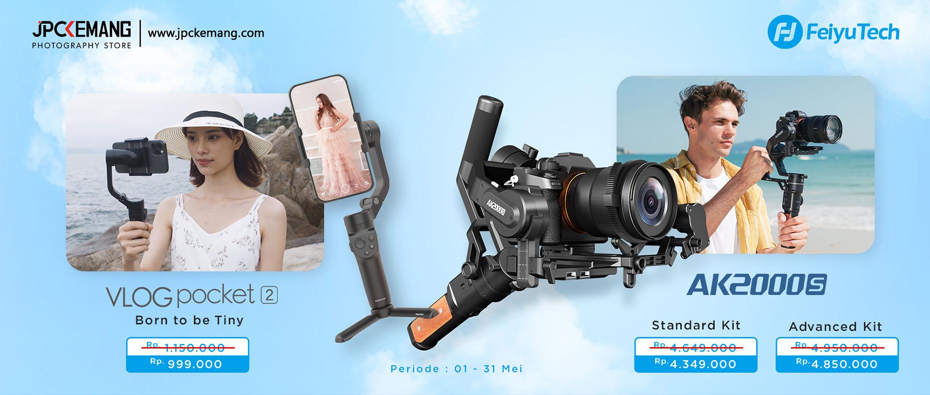 Feiyu Vlog Pocket 2 dan AK2000S