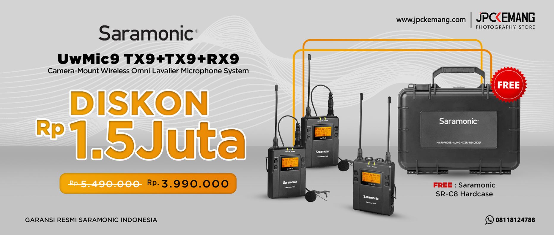 Saramonic UwMic9 Kit2 Wireless Omni Lavalier Microphone System