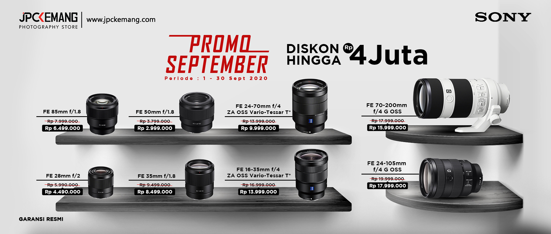 Diskon Lensa Sony September