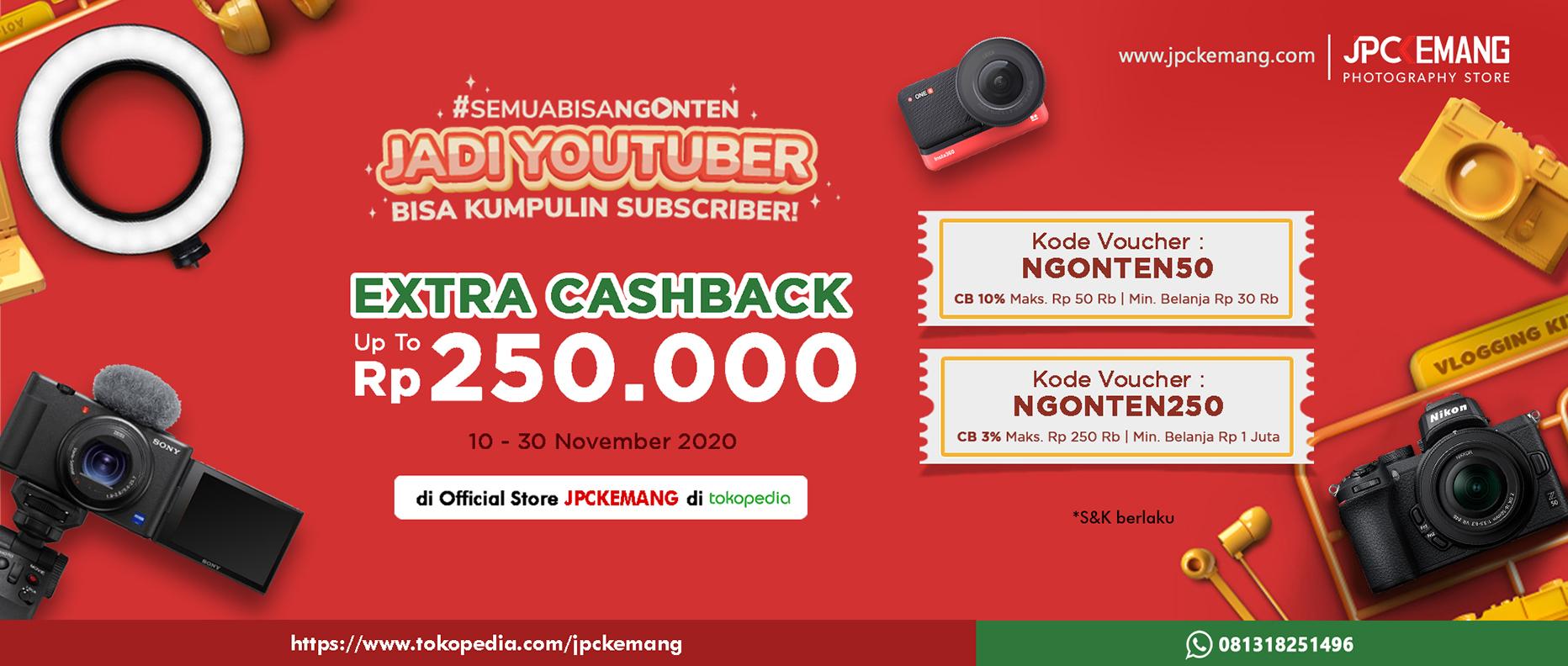 Extra Cashback di Tokopedia JPC Kemang