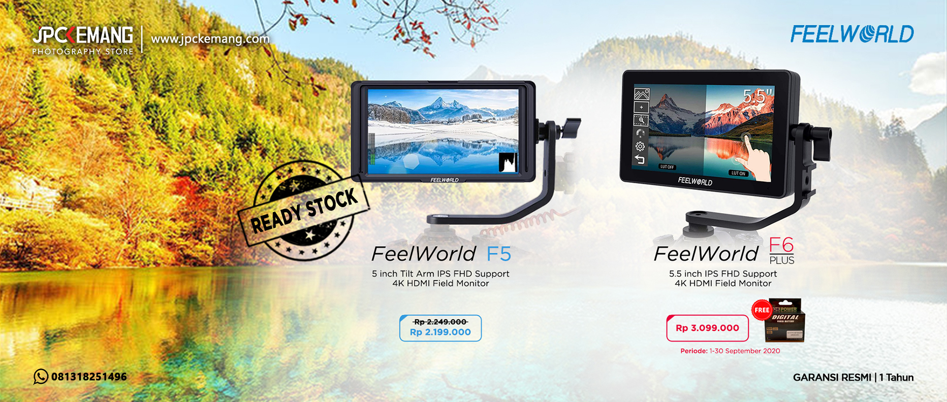 Feelworld F5 dan F6 Plus
