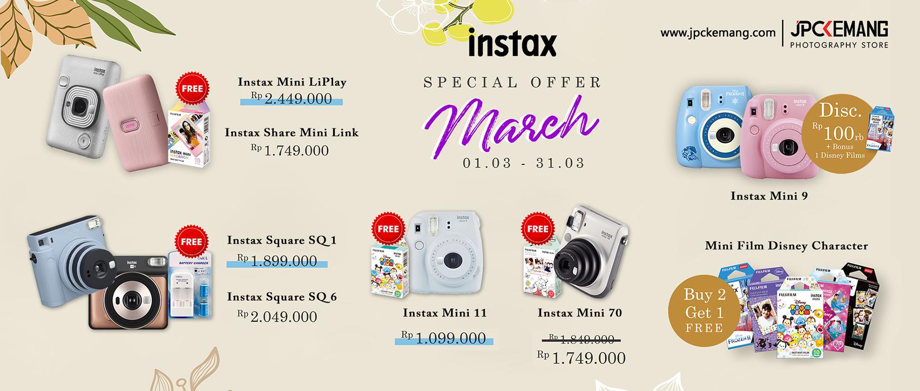 Fujifilm Instax Mini Promo Maret
