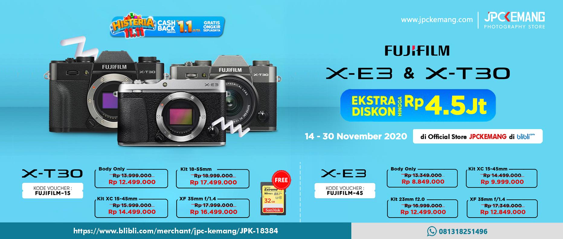 Fujifilm XE3 dan XT30 di Blibli JPC Kemang