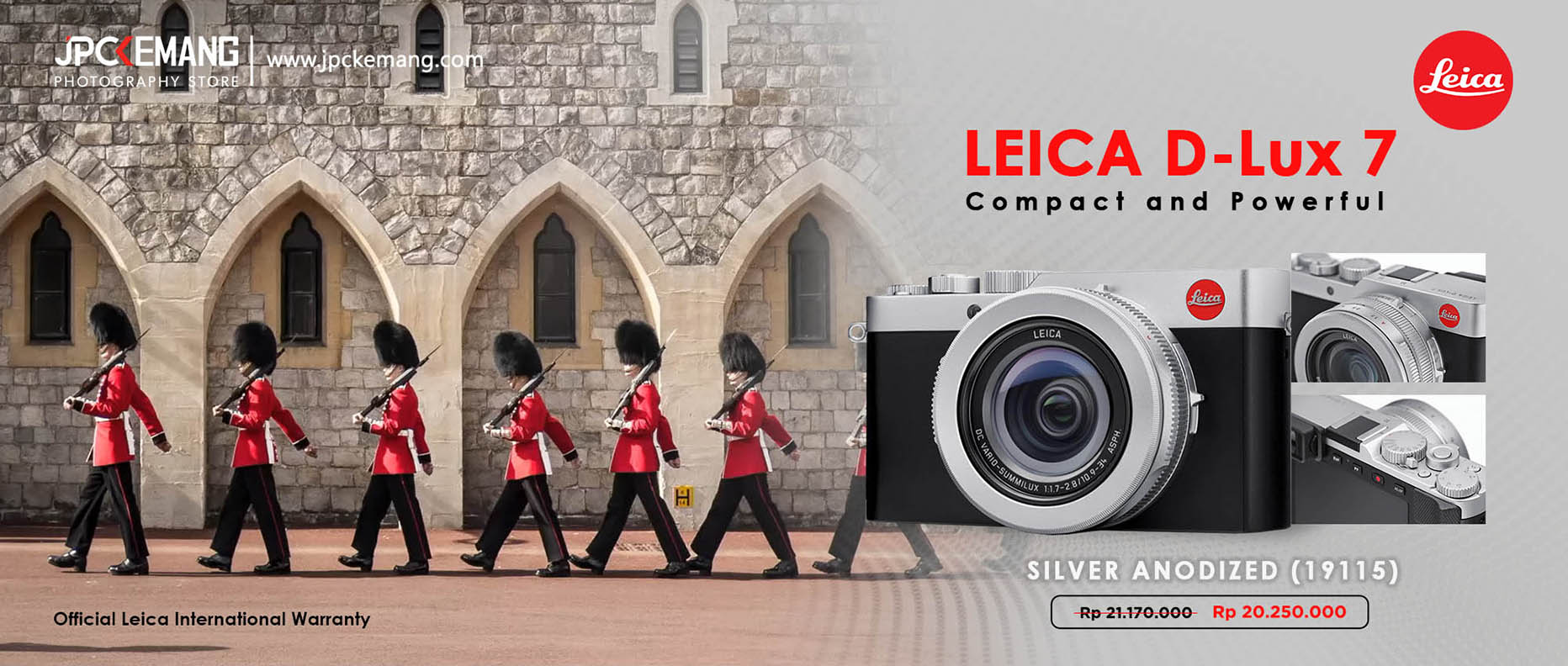 Leica D Lux 7 Silver Anodized (19115)