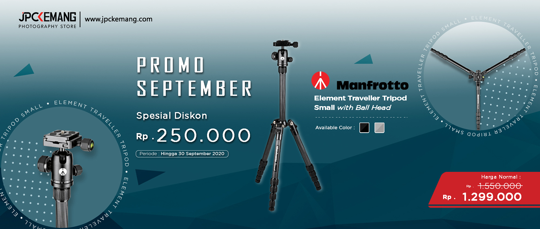Manfrotto Element Small Aluminum Traveler Tripod