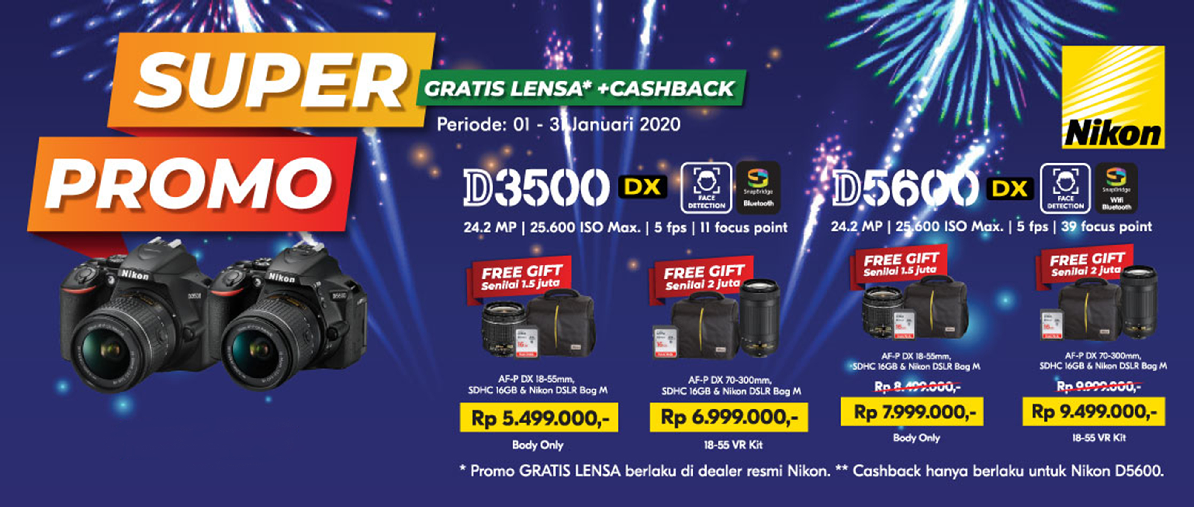 Promo Nikon D3500 and Nikon D5600