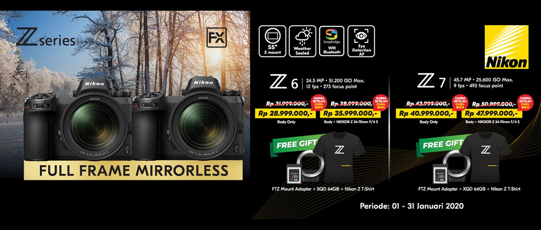 Promo Nikon Z6 and Nikon Z7