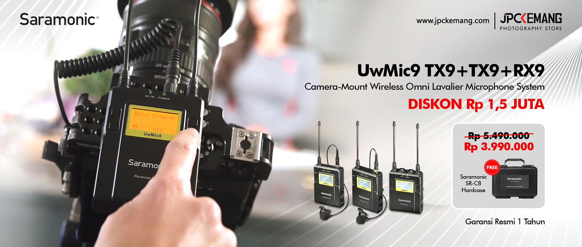 Saramonic UwMic9 Wireless Omni Lavalier Microphone System