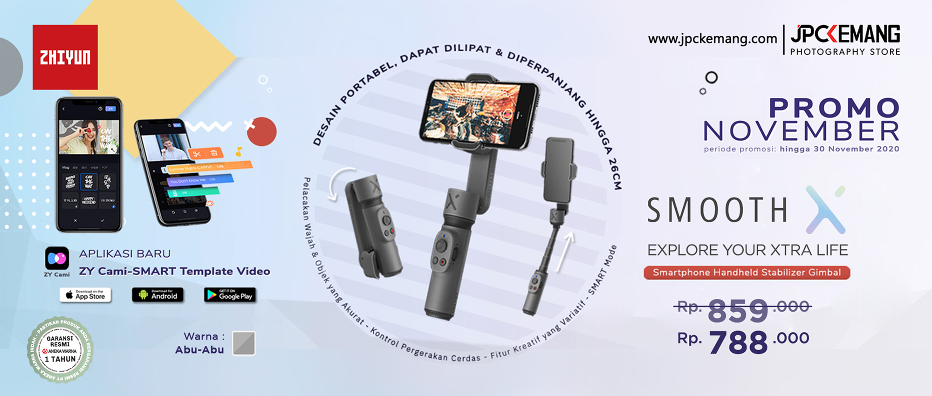 Zhiyun Smooth X Gimbal Stabilizer For Smartphone